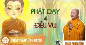 Phật dạy bốn điều vui