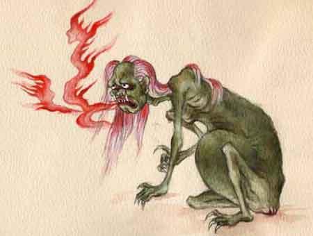 sự tích quỷ mẹ và thí thực khi ăn cơm