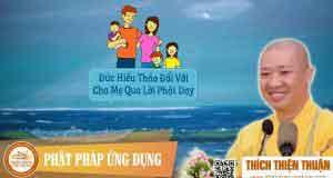 Đức hiếu thảo đối với cha mẹ qua lời Phật dạy