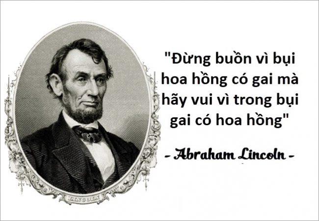 Những câu nói hay của người nổi tiếng Abraham Lincoln