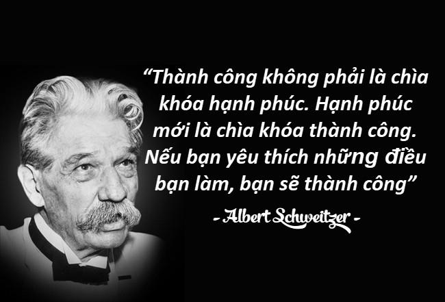 Những câu nói hay của người nổi tiếng Albert Schweitzer