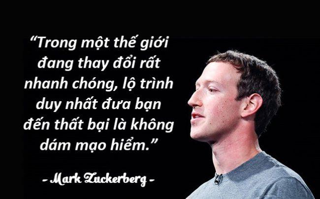 Những câu nói hay của người nổi tiếng Mark Zuckerberg