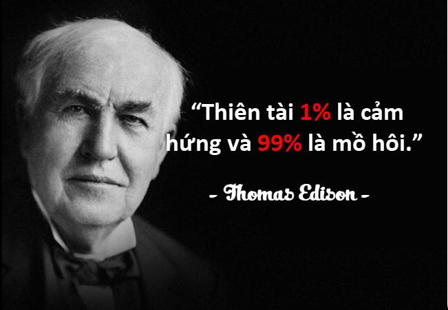 Những câu nói hay của người nổi tiếng Thomas Edison